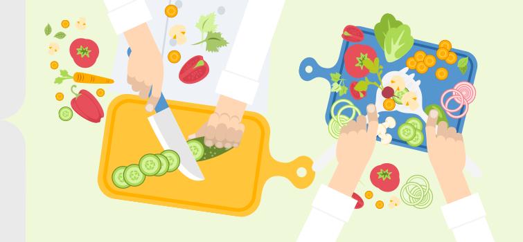 corsi di cucina pranzo vegetariano